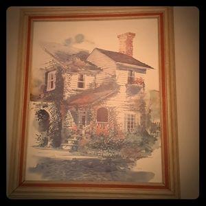"Vintage impressionist ""Dreams of Home"" paintings"